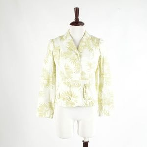 ANN TAYOR LOFT – Green Floral Jacket – Petite 6